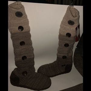 NWT Muk Luks the original over knee sweater boots